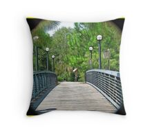 Walkway to The Forrest Throw Pillow