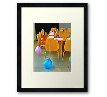 Coming to the Party Framed Print