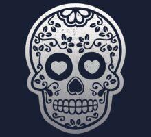 Sugar Skulls Pattern // Goth Punk Skulls Pattern Mexican Sugar Skulls Kids Tee