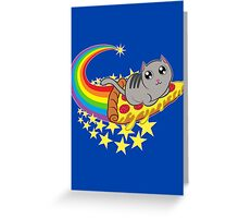 Pizza cat Greeting Card