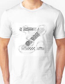 Zentangle®-Inspired Art - Tangled Alphabet - Z T-Shirt