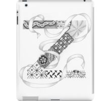 Zentangle®-Inspired Art - Tangled Alphabet - Z iPad Case/Skin