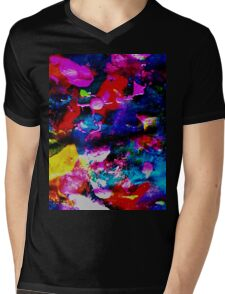 Pink Blossoms in Autumn Mens V-Neck T-Shirt