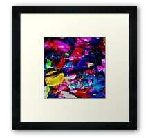 Pink Blossoms in Autumn Framed Print