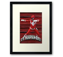 Mighty Morphin Red Ranger - It's Morphin Time! Framed Print