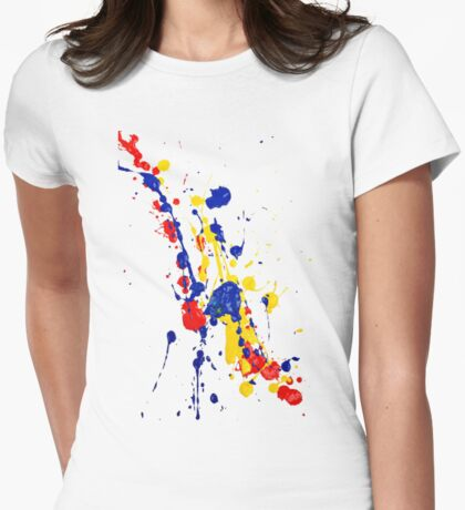 Paint Tee Womens Fitted T-Shirt