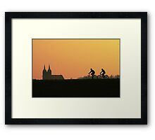 bikers in poland Framed Print