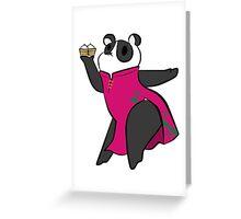 Waitress panda bear Greeting Card