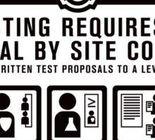 SCP 914 Warning Sign Sticker