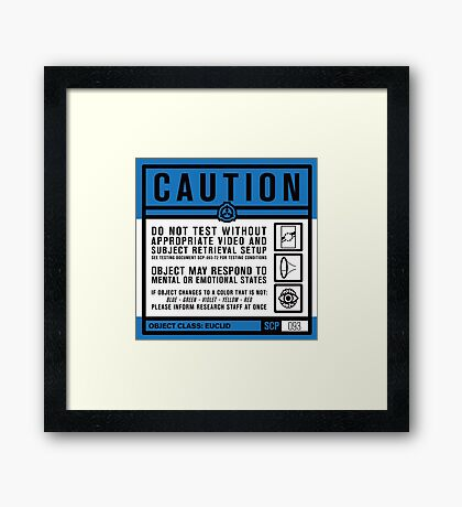 SCP 093 Warning Sign Framed Print