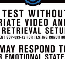 SCP 093 Warning Sign Sticker
