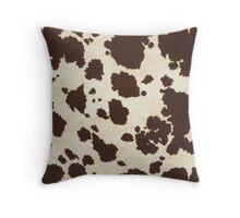Brown & White Cowhide Throw Pillow