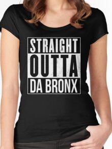 STRAIGHT OUTTA DA BRONX Women's Fitted Scoop T-Shirt