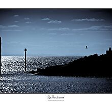 Reflections - Titled print in blue by Mark Podger