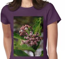 Butterfly Flower Womens Fitted T-Shirt