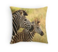 Kruger Mother and Foal Throw Pillow