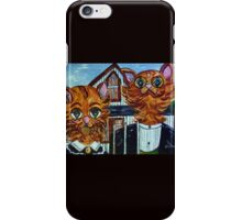 American Gothic Cats - A Parody iPhone Case/Skin