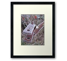 Frosted Rusty Equipment Framed Print