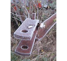 Frosted Rusty Equipment Photographic Print