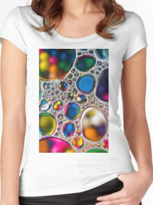 Oil & Water 4 Women's Fitted Scoop T-Shirt
