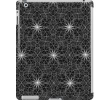 Sacred Geometry black white iPad Case/Skin