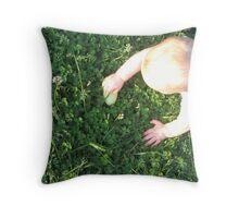 Egg Hunt Throw Pillow