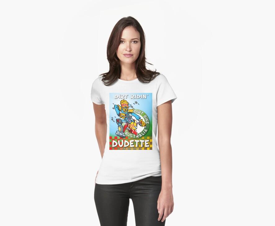 Dirt Ridin' Dudette T-Shirt by Wizard