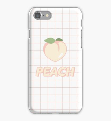 """PEACH"" GRIDS DESIGN iPhone Case/Skin"
