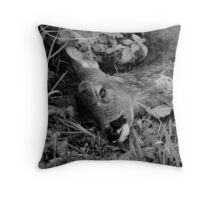 Lying By the Side of the Road Throw Pillow