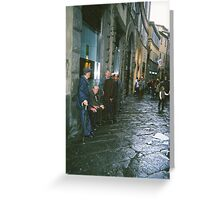 Men of Siena Greeting Card