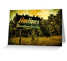 Anntiques Billboard  Greeting Card