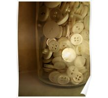 Vintage Button Jar Poster