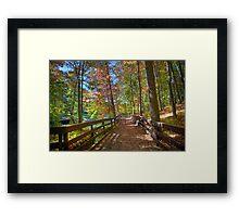 A Pleasant Fall Day Framed Print