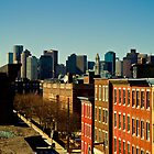 Boston Skyline by J. Scherr
