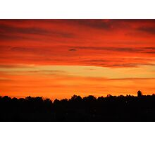 Smoky Sunset 2 Photographic Print