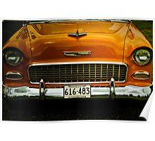 Orange Chevrolet Poster
