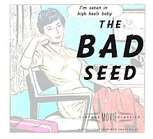 Retro Housewife Humor The Bad Seed Photographic Print