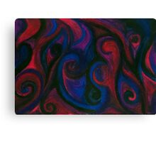 Red and Blue Eyes Canvas Print