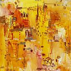Yellow Conundrum, oil on canvasboard by Regina Valluzzi