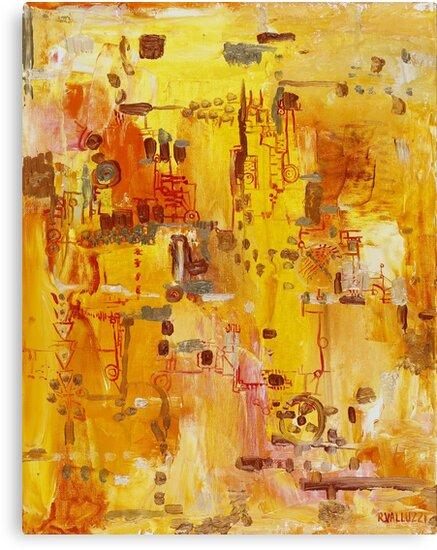 Yellow Conundrum, oil on canvasboard by Regina Valluzzi