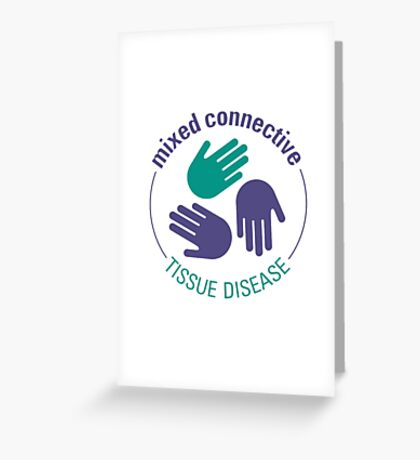 Official Mixed Connective Tissue Disease Logo Greeting Card