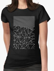 Ab Lines 45 Black Womens Fitted T-Shirt
