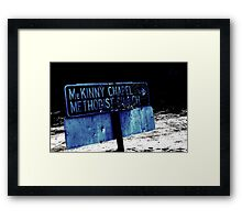 The Road to Salvation Framed Print