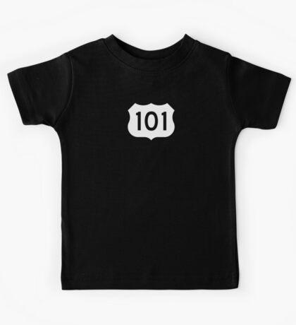 US Route 101 - California - Highway Road Trip T-Shirt Car Bumper Sticker Kids Tee