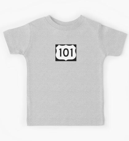 US Route 101 - California - Highway Road Trip T-Shirt Car Bumper Sticker Kids Tee