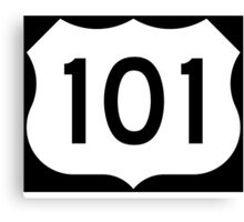 US Route 101 - California - Highway Road Trip T-Shirt Car Bumper Sticker Canvas Print