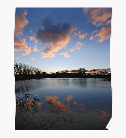 Autumn Sky Over Indiana Poster