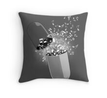 Music Pill Throw Pillow