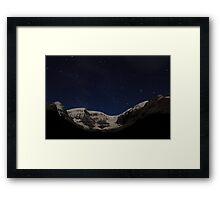 Stars above glacier Framed Print