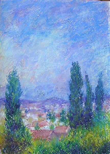 Cyprus sky by Julia Lesnichy